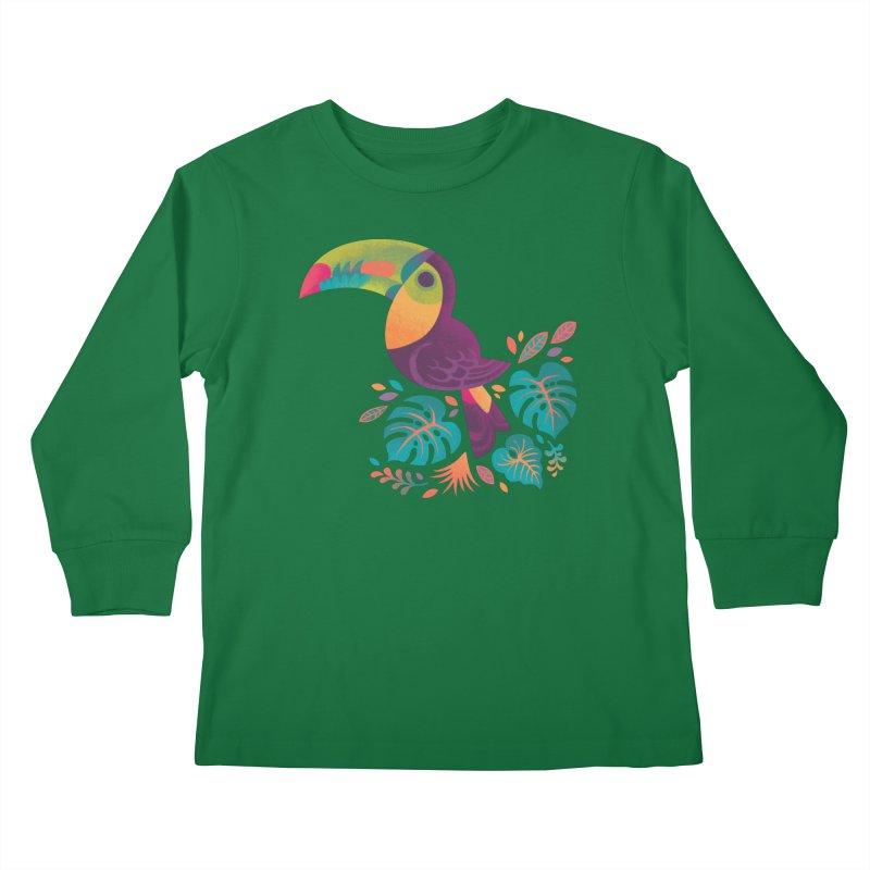 Tropical Toucan 2 Kids Longsleeve T-Shirt by Waynem