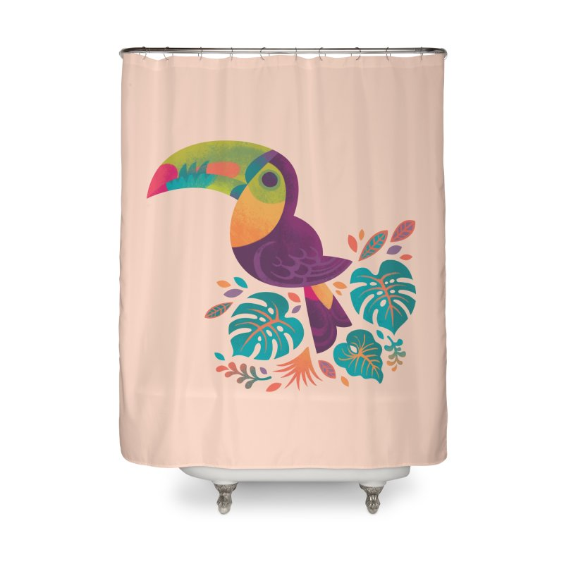 Tropical Toucan 2 Home Shower Curtain by Waynem