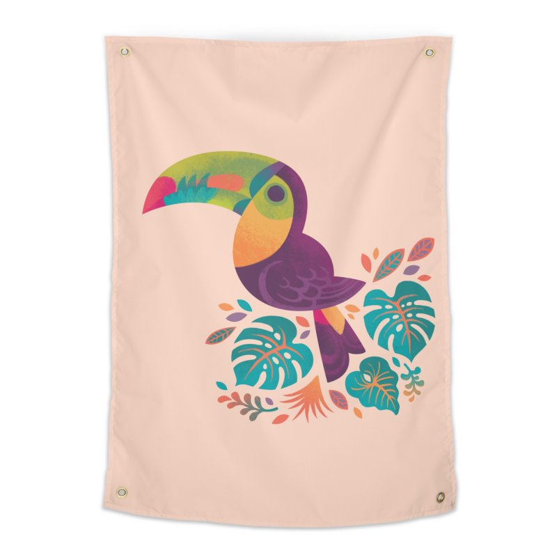 Tropical Toucan 2 Home Tapestry by Waynem