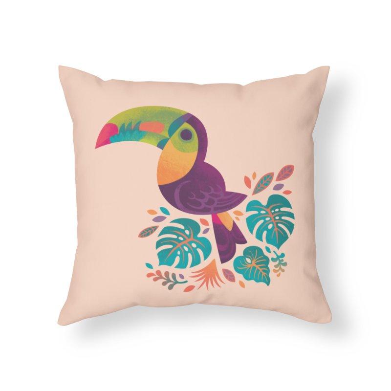Tropical Toucan 2 Home Throw Pillow by Waynem