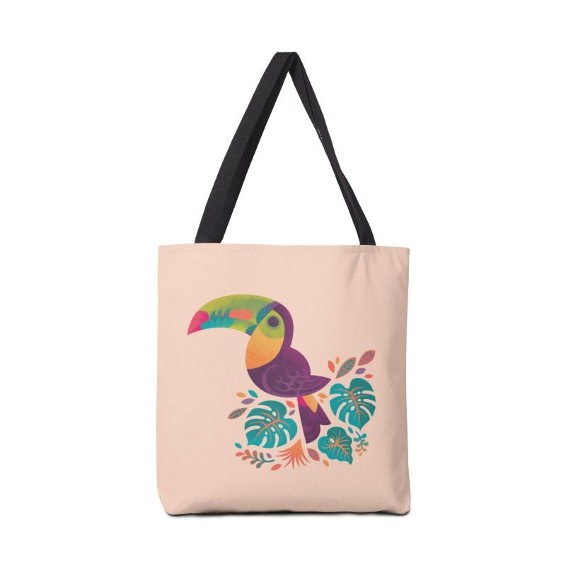 Tropical Toucan 2 Accessories Tote Bag Bag by Waynem