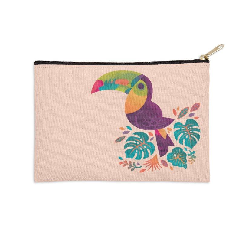 Tropical Toucan 2 Accessories Zip Pouch by Waynem