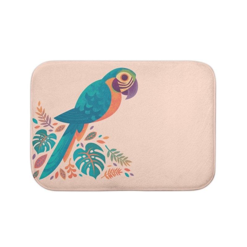 Blue and Gold Macaw Home Bath Mat by Waynem