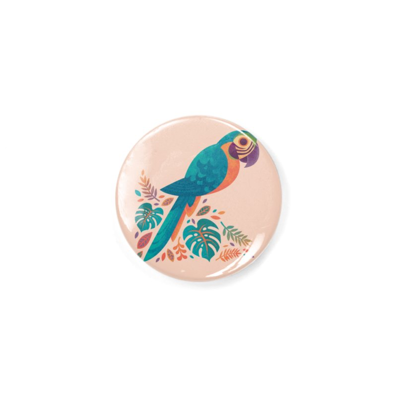 Blue and Gold Macaw Accessories Button by Waynem