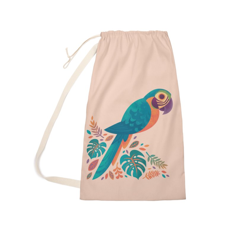 Blue and Gold Macaw Accessories Laundry Bag Bag by Waynem