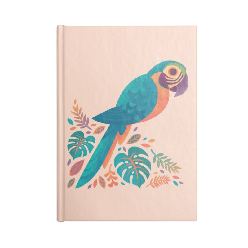 Blue and Gold Macaw Accessories Lined Journal Notebook by Waynem