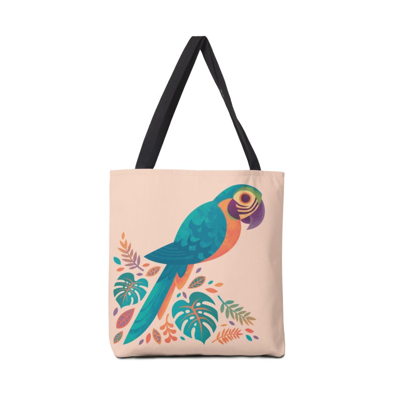 Blue and Gold Macaw Accessories Tote Bag Bag by Waynem