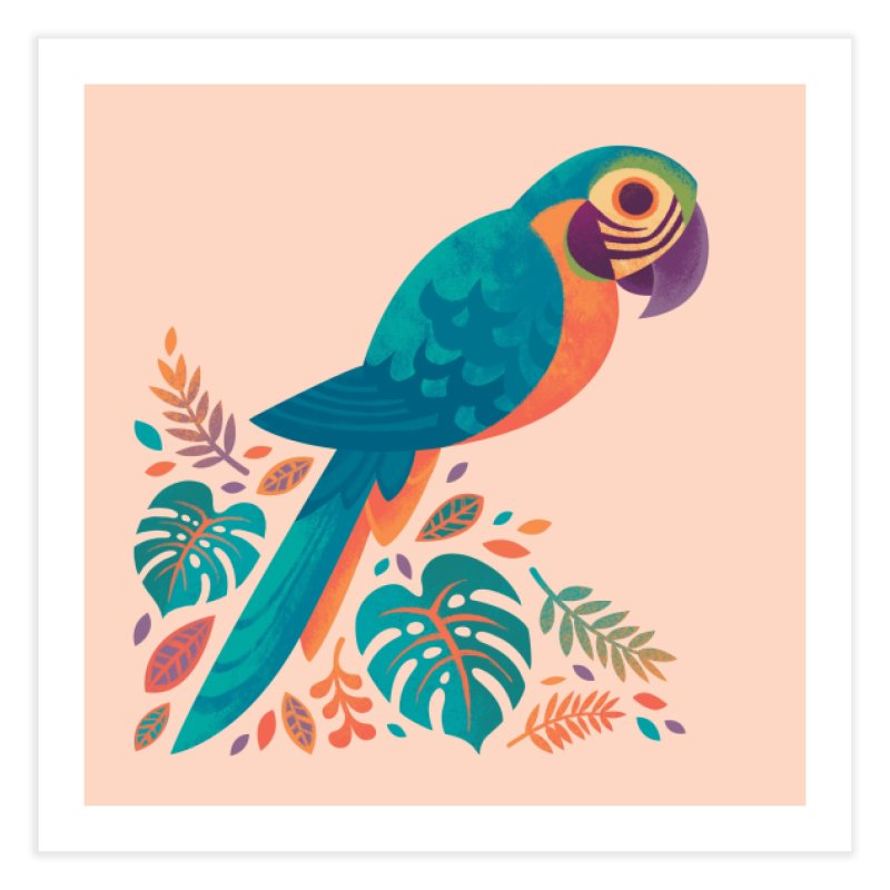 Blue and Gold Macaw Home Fine Art Print by Waynem