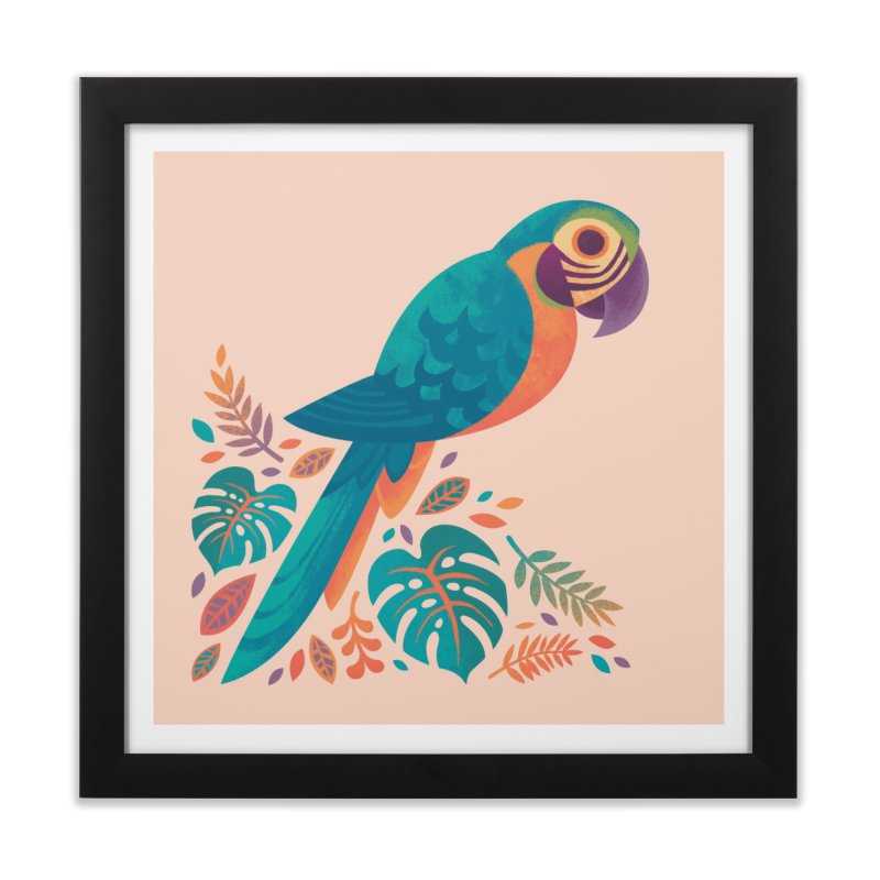 Blue and Gold Macaw Home Framed Fine Art Print by Waynem