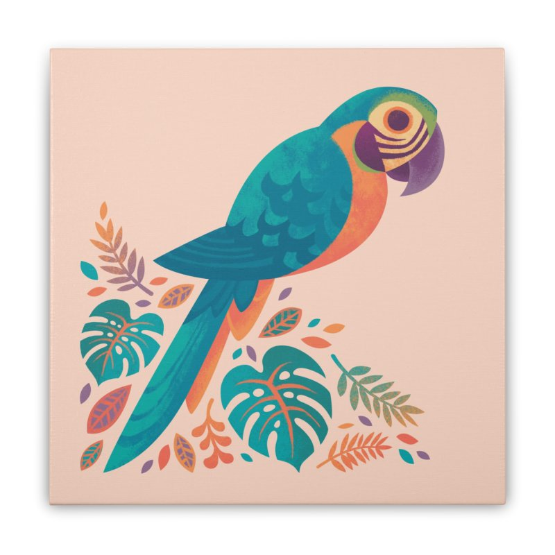 Blue and Gold Macaw Home Stretched Canvas by Waynem