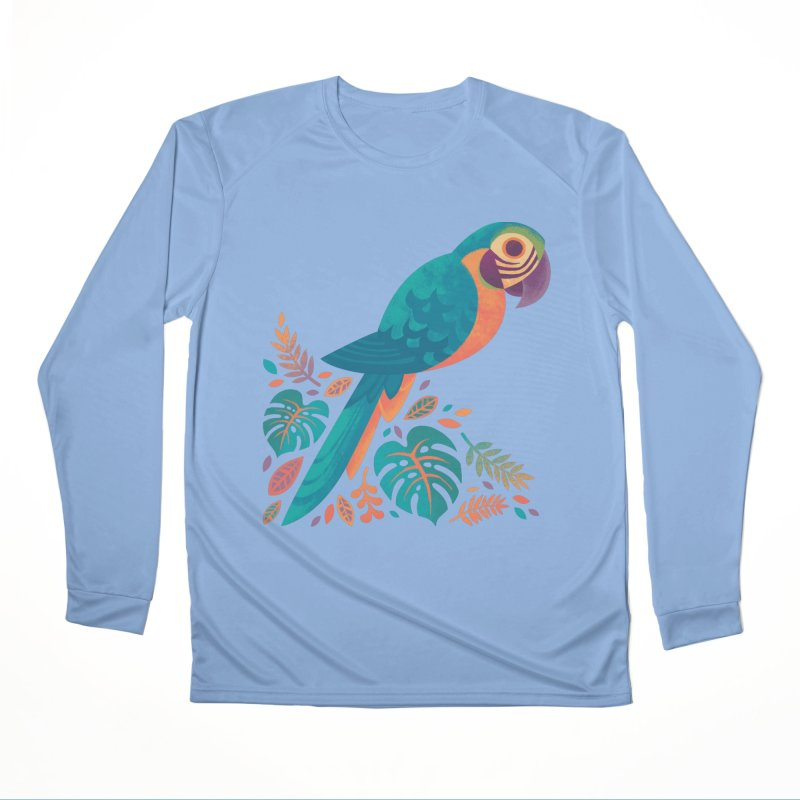Blue and Gold Macaw Men's Performance Longsleeve T-Shirt by Waynem