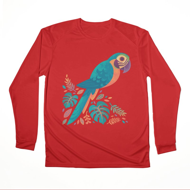 Blue and Gold Macaw Women's Performance Unisex Longsleeve T-Shirt by Waynem