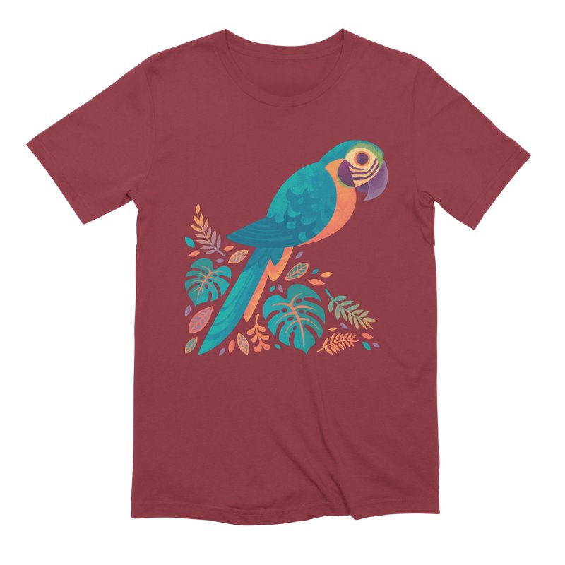Blue and Gold Macaw Men's Extra Soft T-Shirt by Waynem