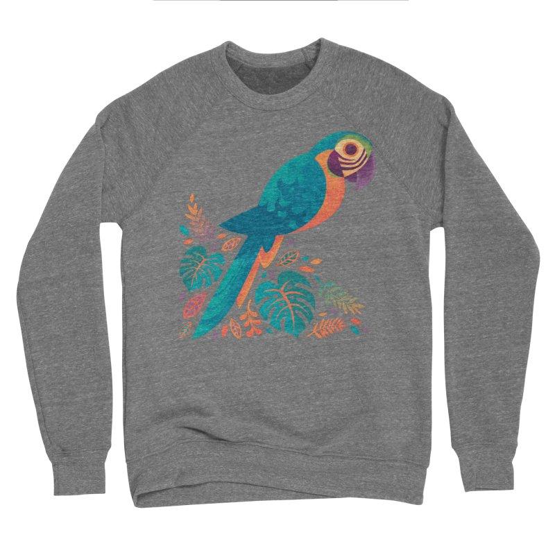 Blue and Gold Macaw Men's Sponge Fleece Sweatshirt by Waynem