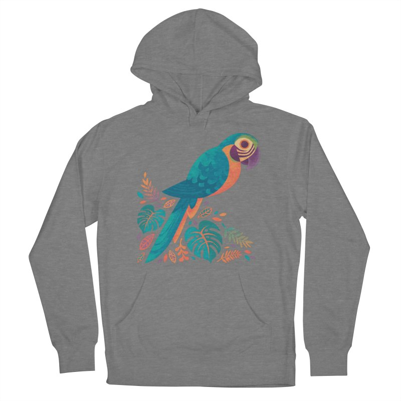 Blue and Gold Macaw Women's French Terry Pullover Hoody by Waynem
