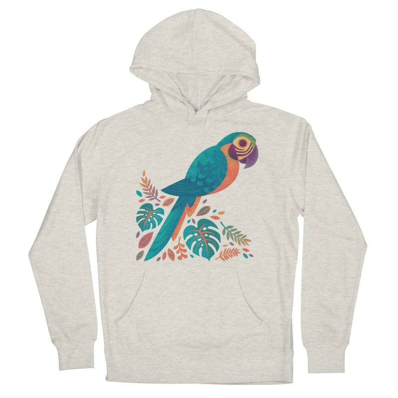 Blue and Gold Macaw Men's French Terry Pullover Hoody by Waynem