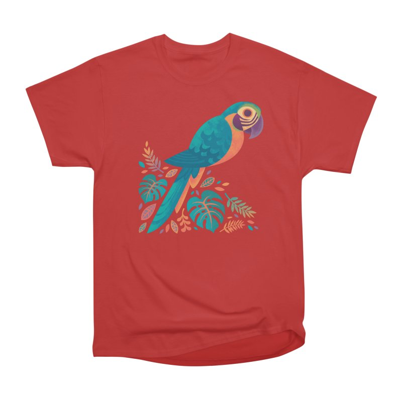 Blue and Gold Macaw Men's Heavyweight T-Shirt by Waynem