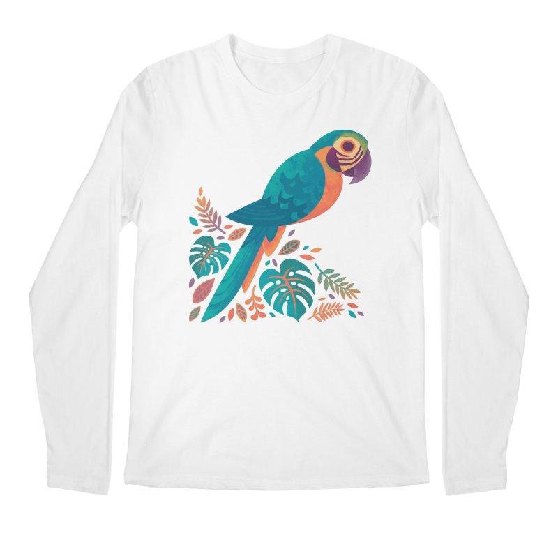 Blue and Gold Macaw Men's Regular Longsleeve T-Shirt by Waynem