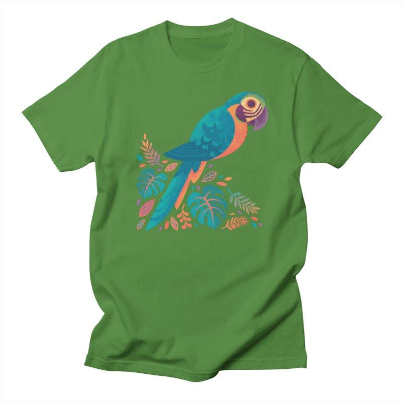 Blue and Gold Macaw Women's Regular Unisex T-Shirt by Waynem
