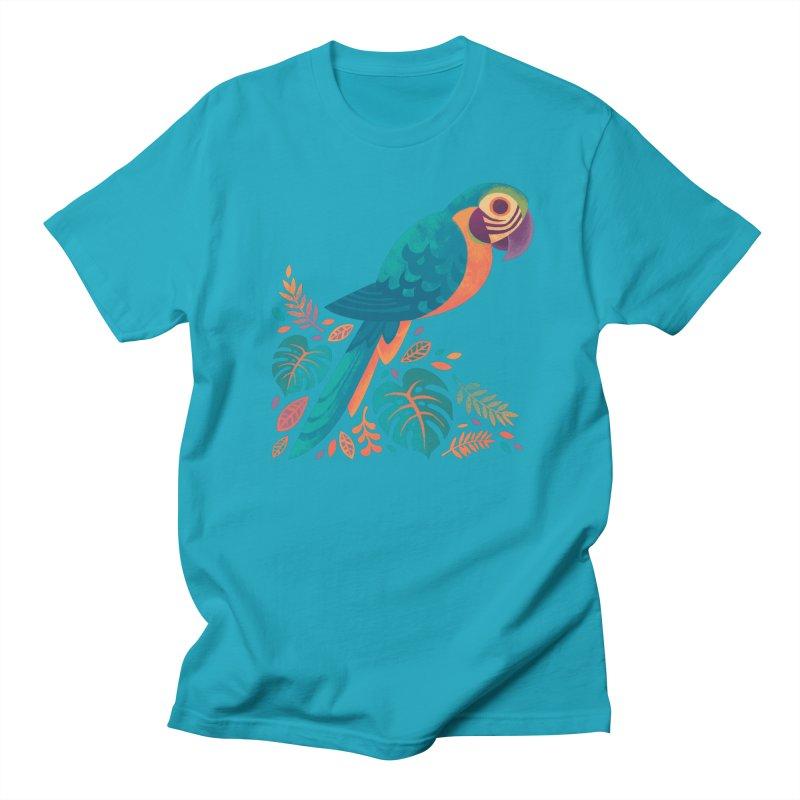 Blue and Gold Macaw Men's Regular T-Shirt by Waynem