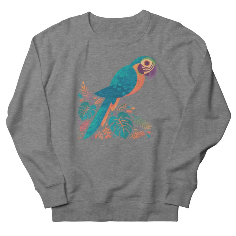 Blue and Gold Macaw Men's French Terry Sweatshirt by Waynem