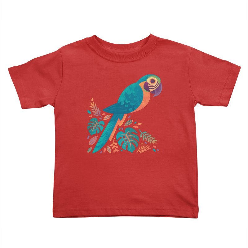 Blue and Gold Macaw Kids Toddler T-Shirt by Waynem