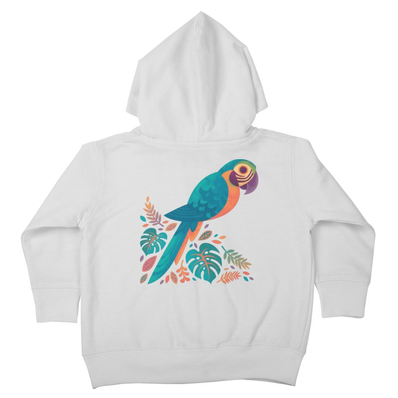 Blue and Gold Macaw Kids Toddler Zip-Up Hoody by Waynem