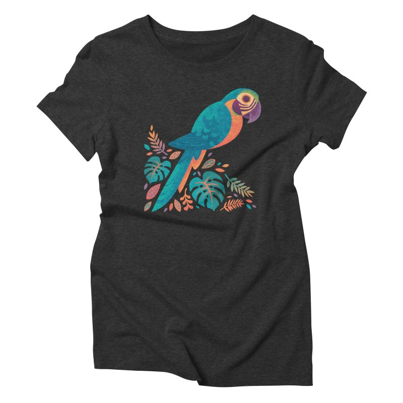 Blue and Gold Macaw Women's Triblend T-Shirt by Waynem