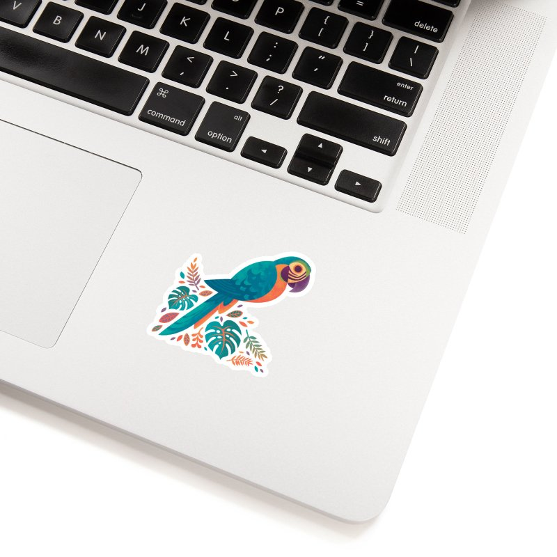 Blue and Gold Macaw Accessories Sticker by Waynem
