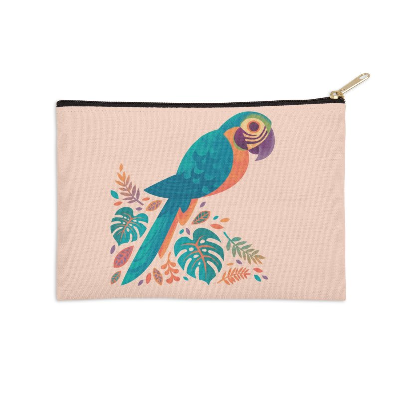 Blue and Gold Macaw Accessories Zip Pouch by Waynem
