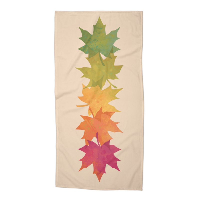 Falling Maple Accessories Beach Towel by Waynem