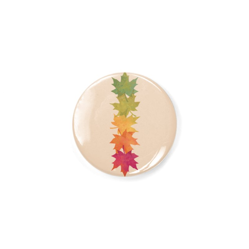Falling Maple Accessories Button by Waynem