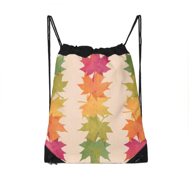 Falling Maple Accessories Drawstring Bag Bag by Waynem