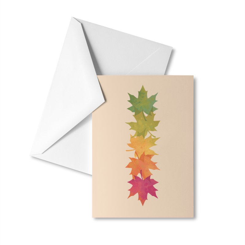 Falling Maple Accessories Greeting Card by Waynem