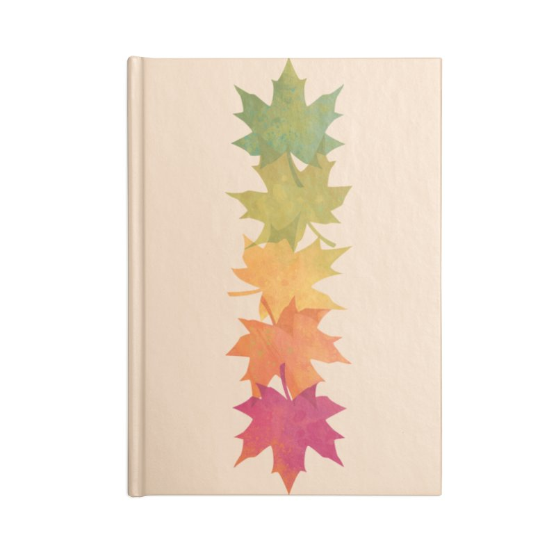 Falling Maple Accessories Lined Journal Notebook by Waynem