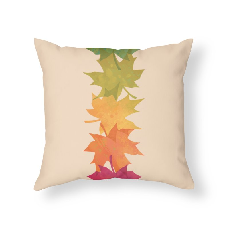 Falling Maple Home Throw Pillow by Waynem
