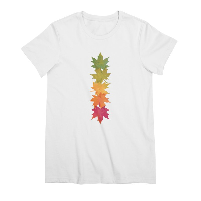 Falling Maple Women's Premium T-Shirt by Waynem