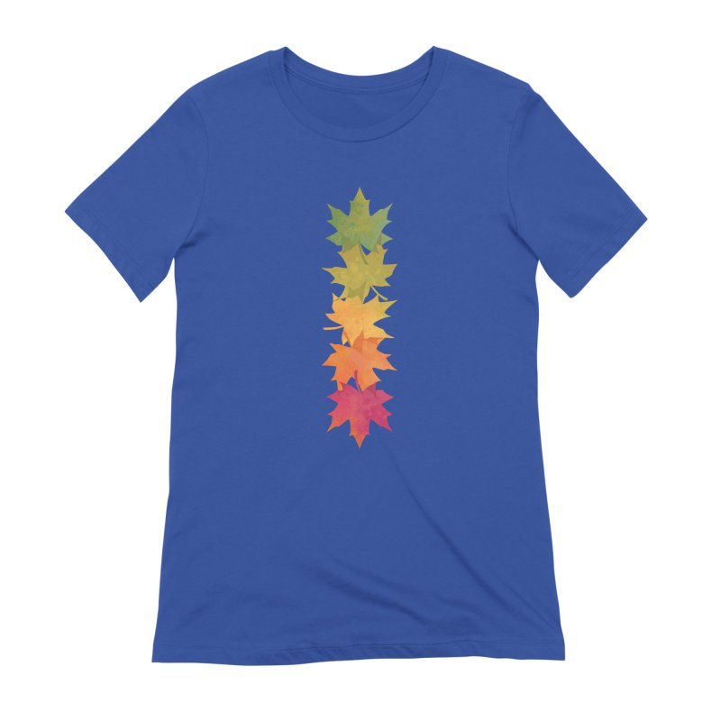Falling Maple Women's Extra Soft T-Shirt by Waynem