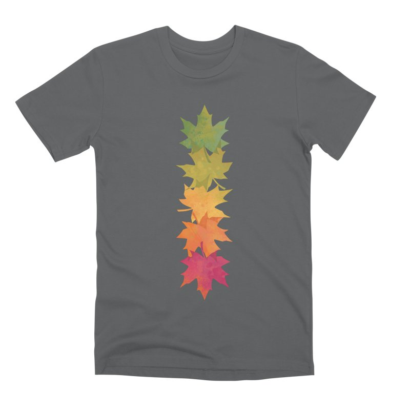 Falling Maple Men's Premium T-Shirt by Waynem
