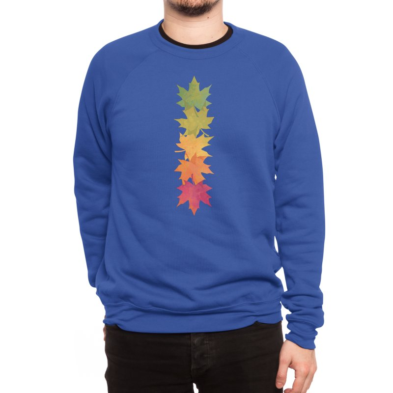 Falling Maple Men's Sweatshirt by Waynem