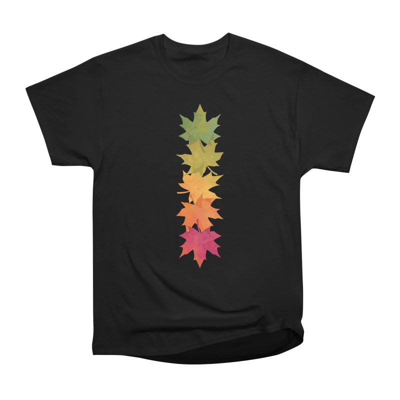 Falling Maple Men's Heavyweight T-Shirt by Waynem