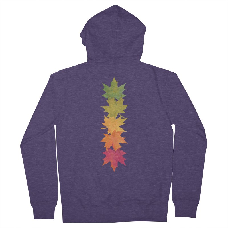 Falling Maple Men's French Terry Zip-Up Hoody by Waynem