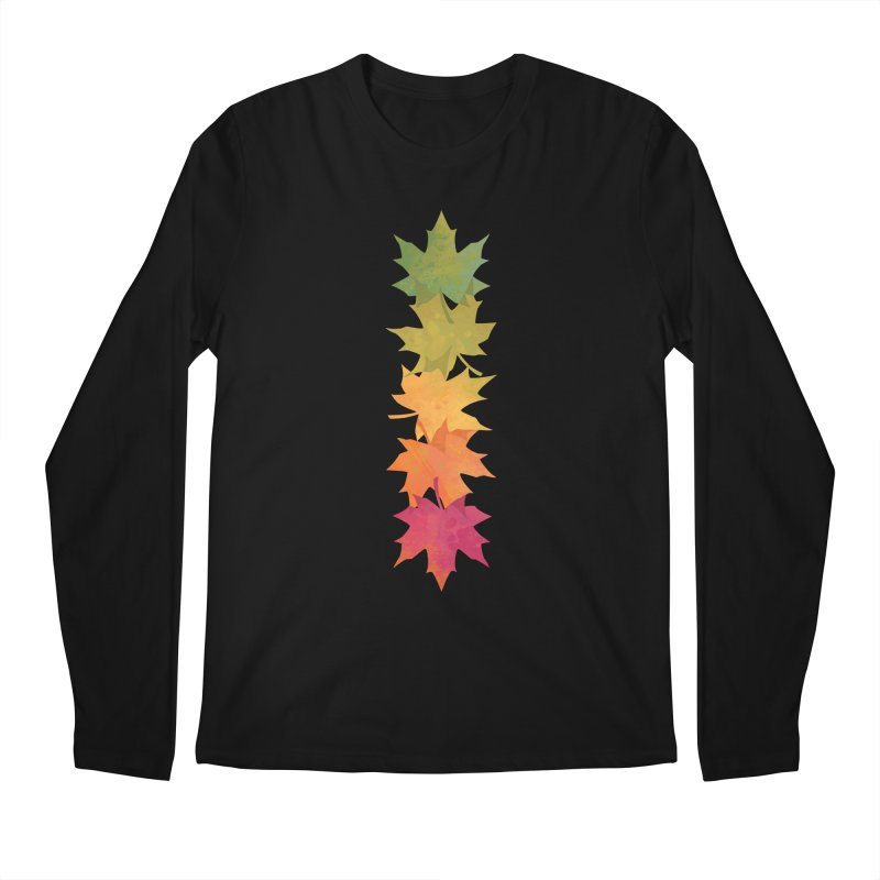 Falling Maple Men's Regular Longsleeve T-Shirt by Waynem
