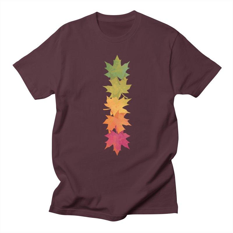 Falling Maple Men's Regular T-Shirt by Waynem