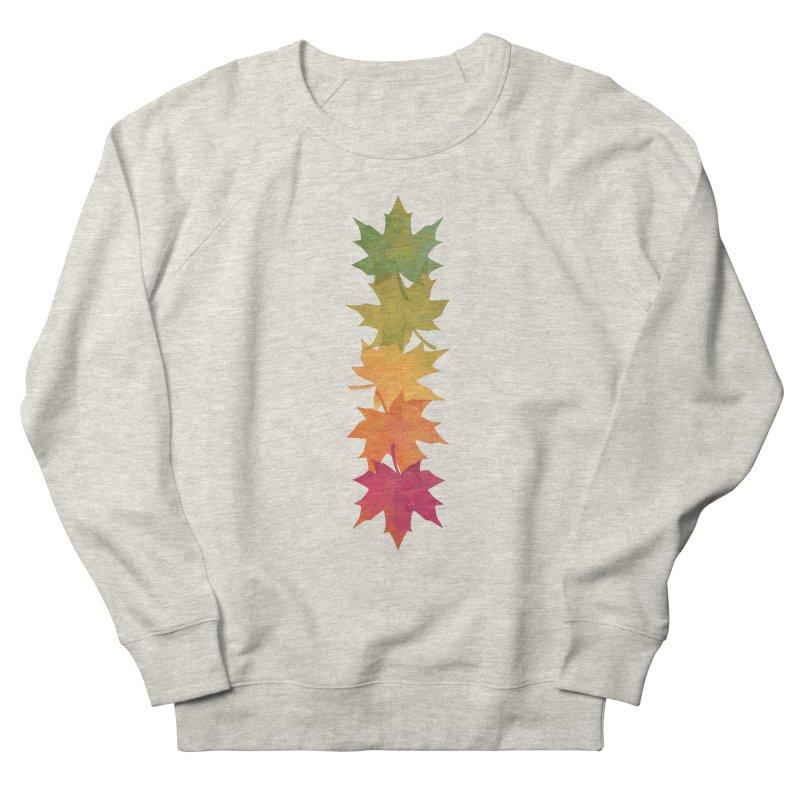 Falling Maple Men's French Terry Sweatshirt by Waynem