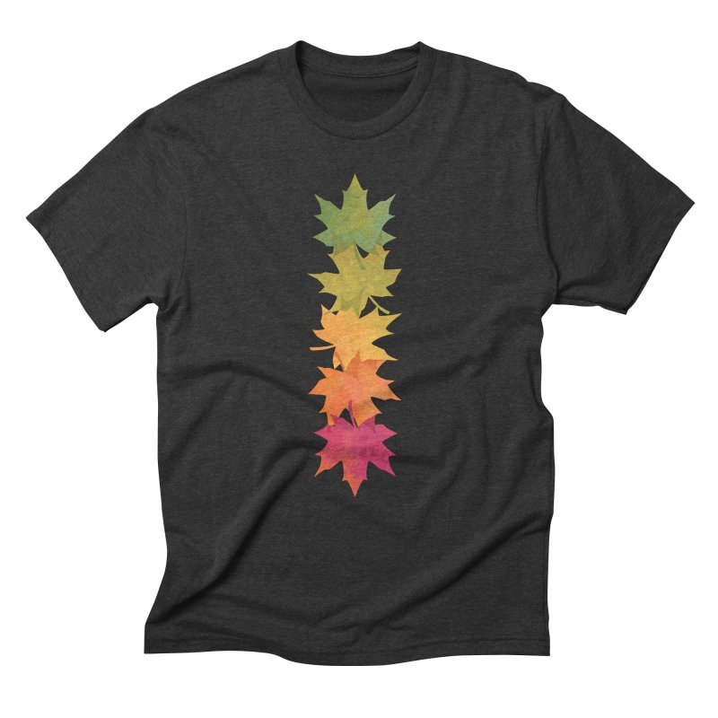 Falling Maple Men's Triblend T-Shirt by Waynem