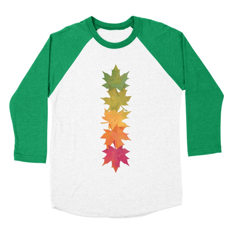 Falling Maple Women's Baseball Triblend Longsleeve T-Shirt by Waynem