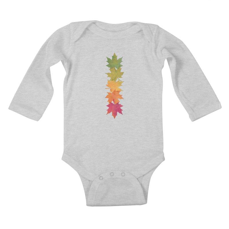 Falling Maple Kids Baby Longsleeve Bodysuit by Waynem