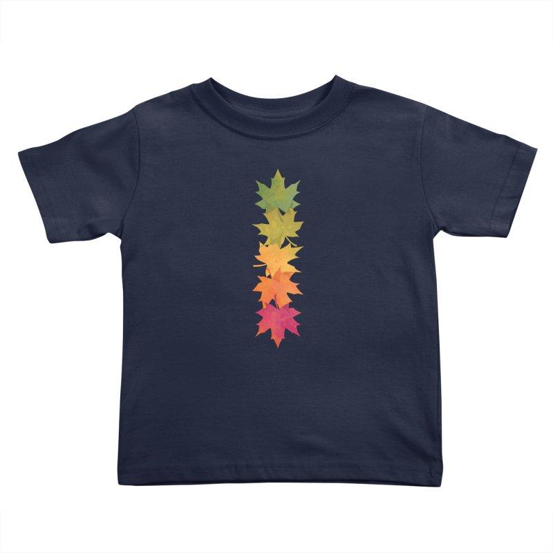 Falling Maple Kids Toddler T-Shirt by Waynem