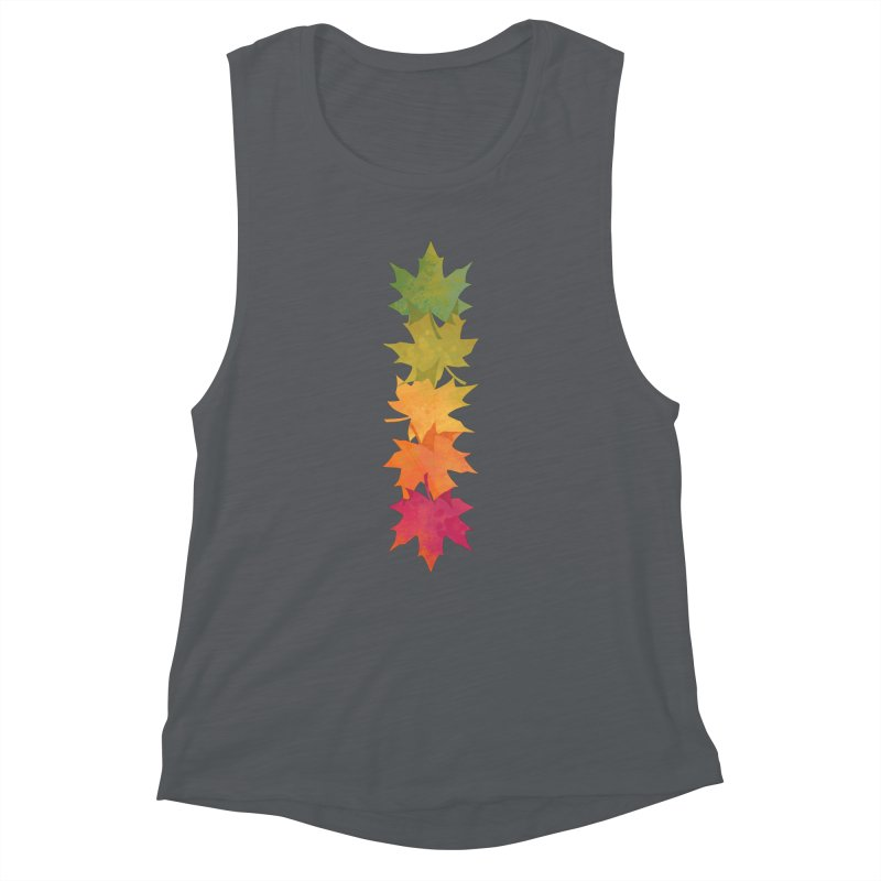 Falling Maple Women's Muscle Tank by Waynem